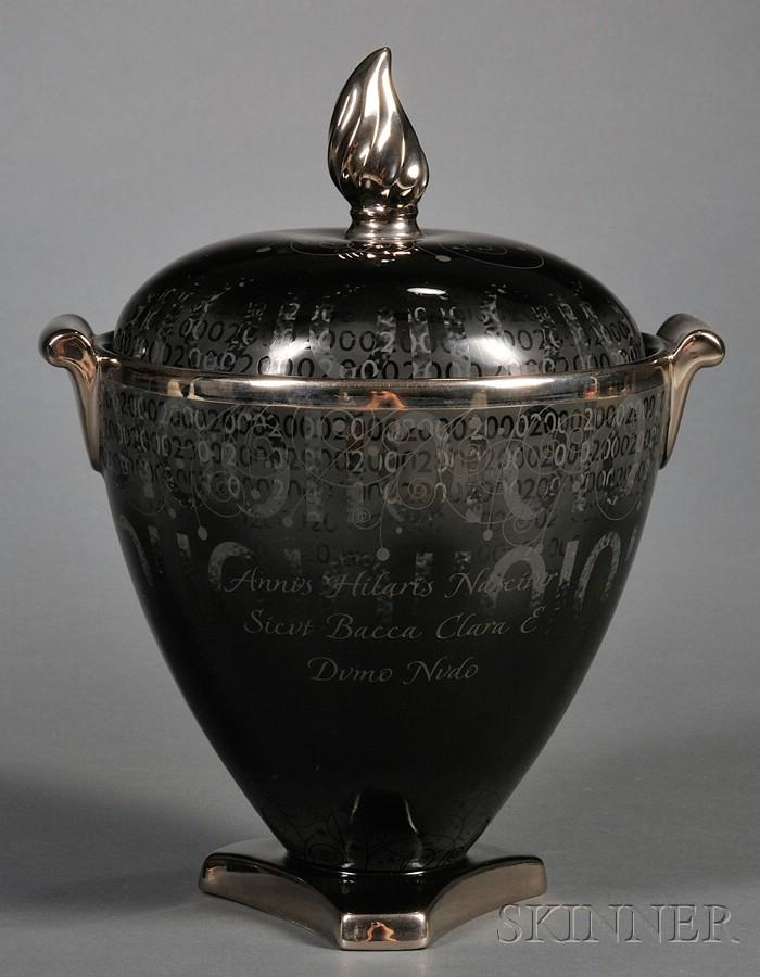 Wedgwood Bone China Millennium Vase and Cover
