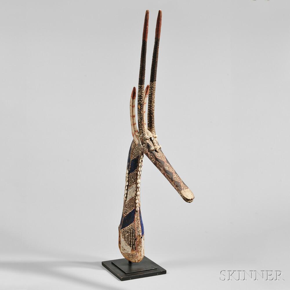 Kurumba Antelope Headdress Mask