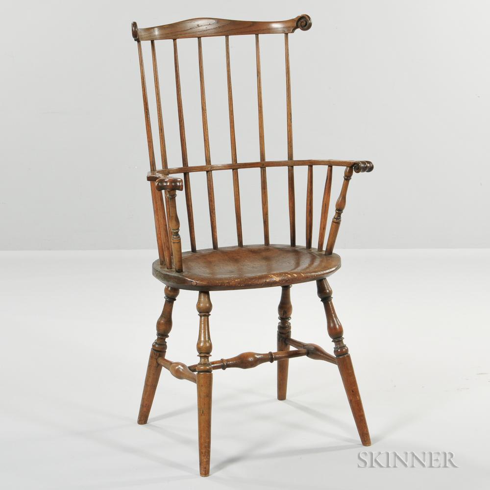 Carved Windsor Fan-back Armchair