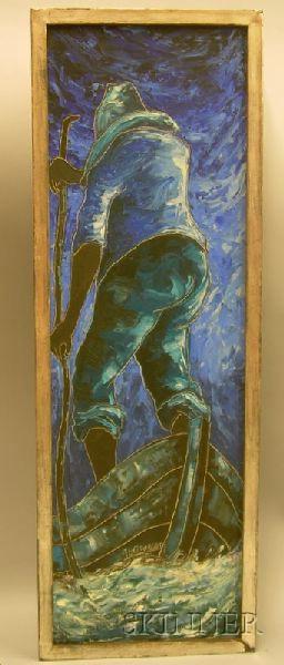 Jacques Enguerrand Gourque (Haitian, b. 1930)      Blue Evening.