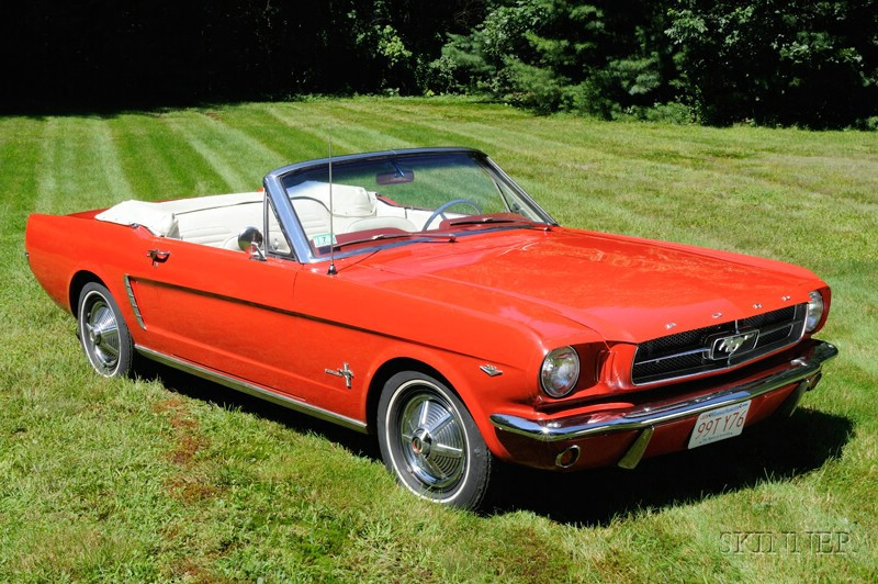 *1965 Ford Mustang Convertible, VIN # 5F08 D210613, odometer reads approx. 44,157 miles