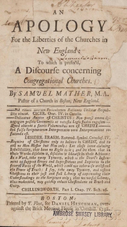 Mather, Samuel (1706-1785)