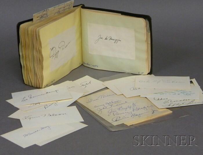 1938-1939 Album of Major League Baseball Cut Autographs