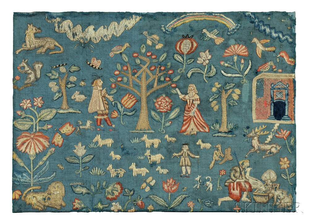 The Phillips Family Needlework Picture