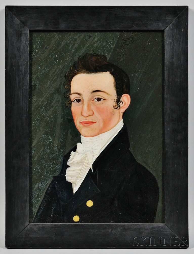 Benjamin Greenleaf (Massachusetts/New Hampshire, 1769-1821)      Portrait of A.W. Thayer of Boston