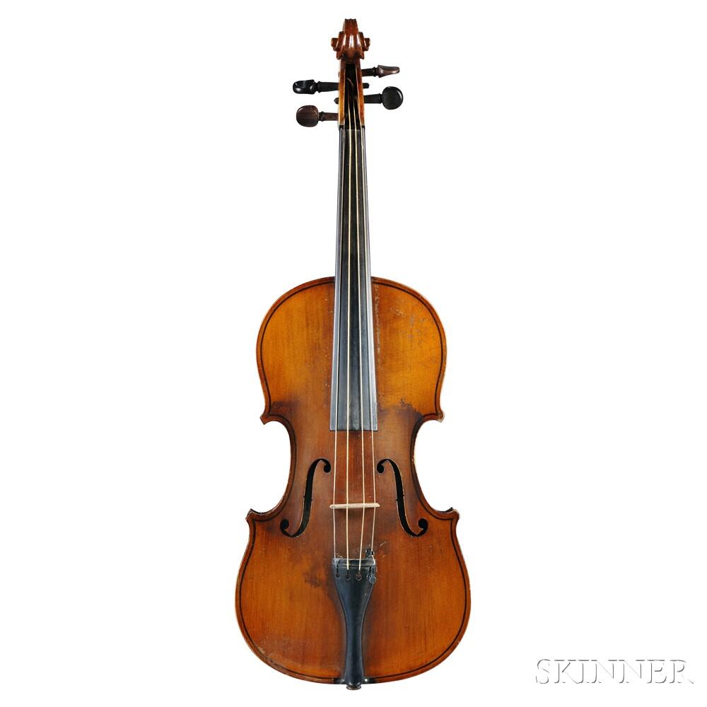 German Violin, Wilhelm Duerer, Eisleben, 1907