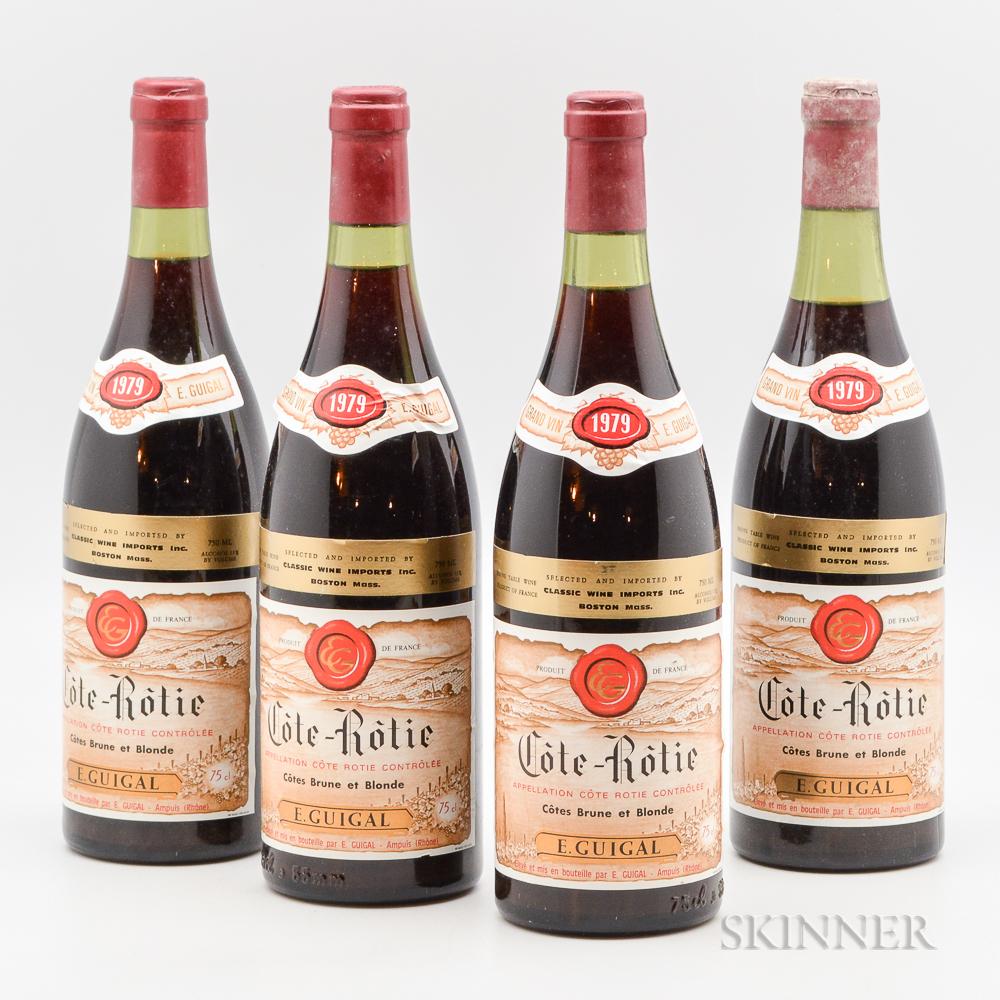Guigal Cote Rotie Brune et Blonde 1979, 4 bottles