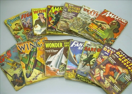 Fourteen 1940s and 1950s Pulp Books