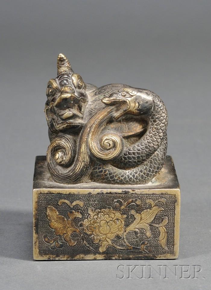 Parcel-gilt Silver Seal