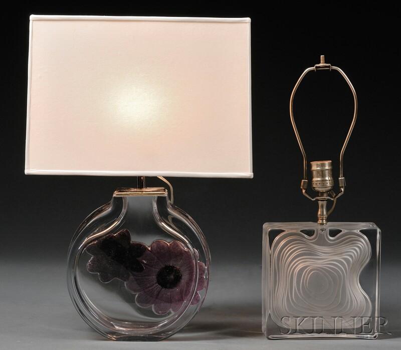 Two Modern Daum Lamps