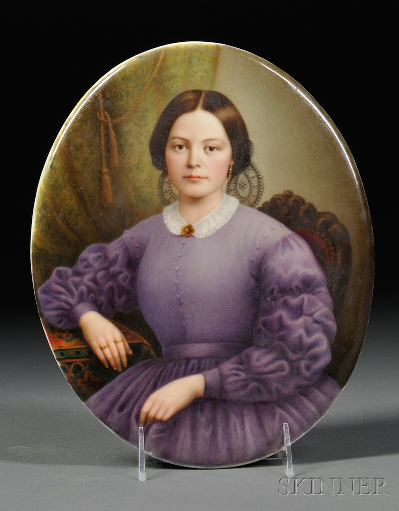 KPM Porcelain Portrait Plaque of a Woman
