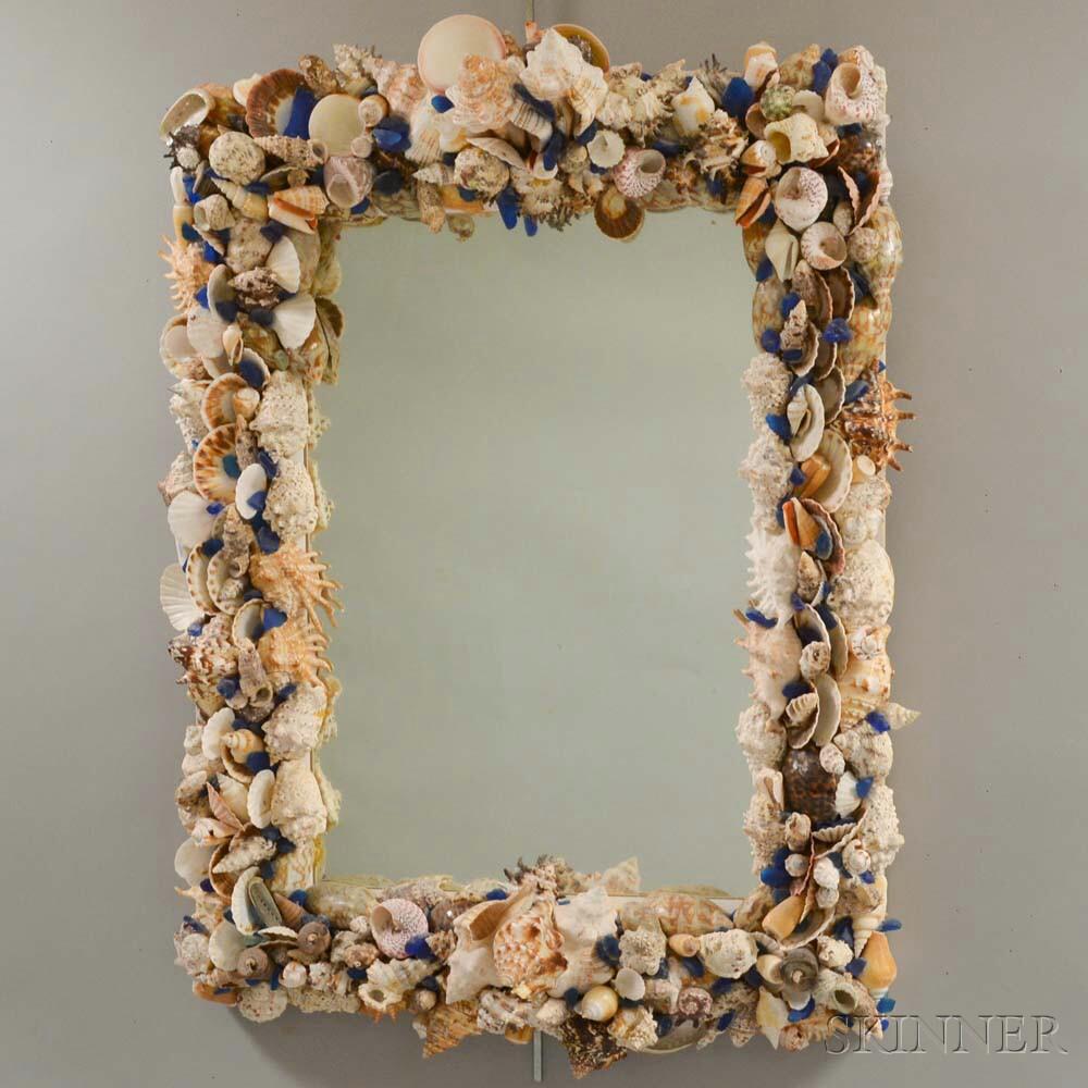 Seashell-decorated Wall Mirror