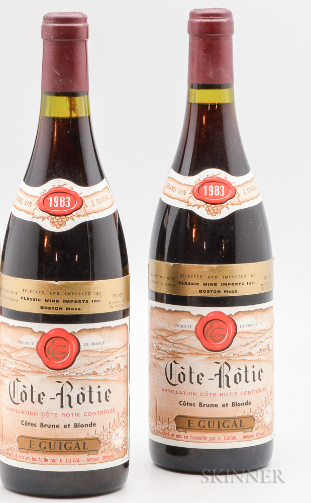Guigal Cote Rotie Brune et Blonde 1983, 2 bottles