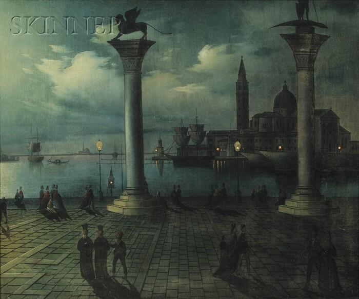 Calle Leone (Italian, 19th Century)      Veduta della Piazza di San Marco