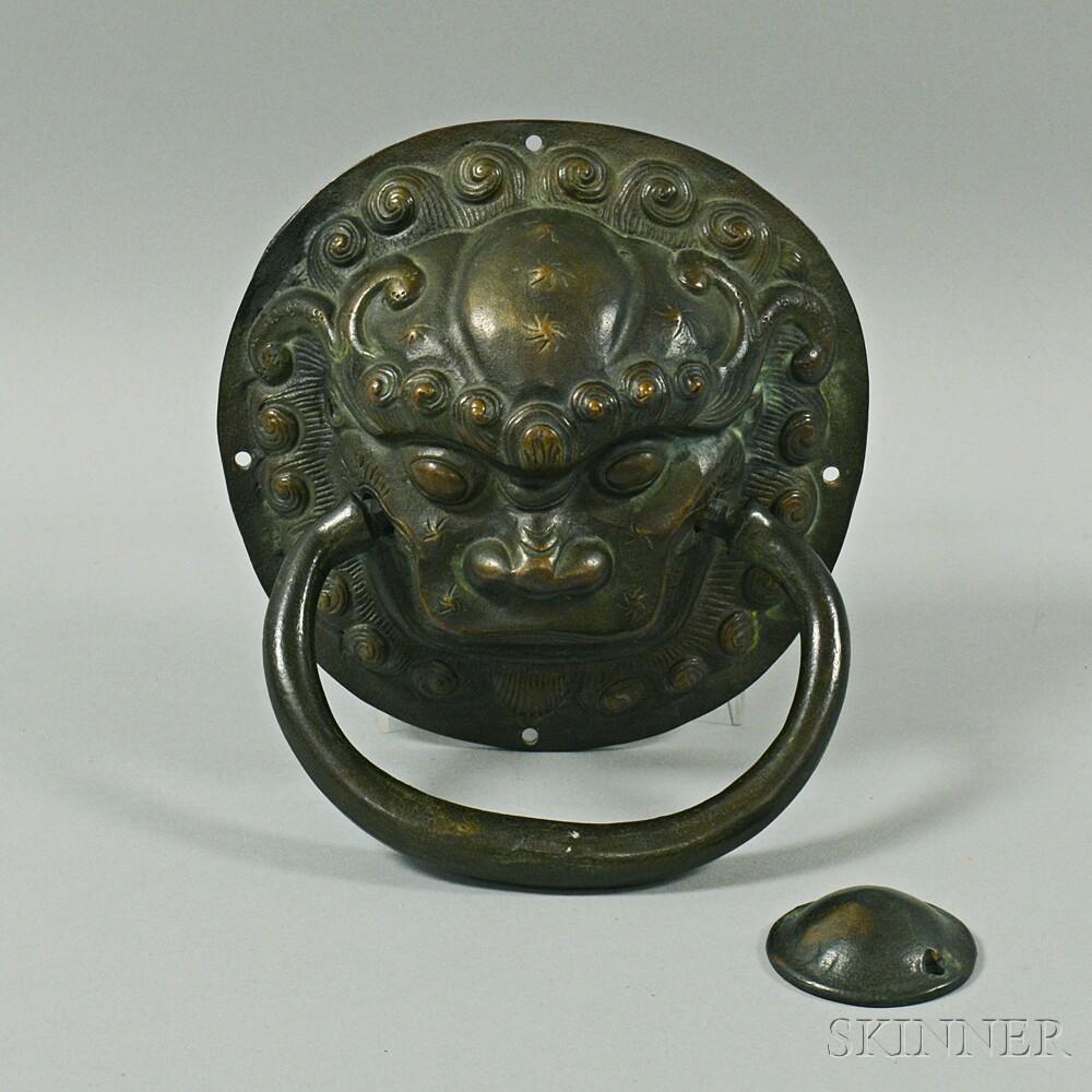 Asian-style Bronze Foo Lion Door Knocker