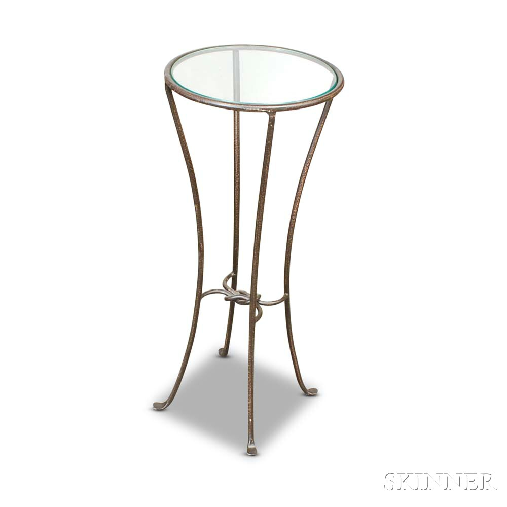 One Steel and Glass Table.
