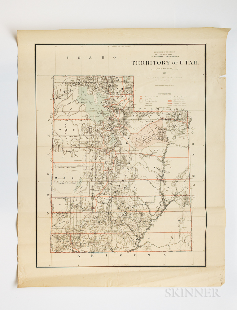 Far West States and Territories, Six General Land Office State and Territory Maps.