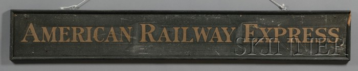 """AMERICAN RAILWAY EXPRESS"" Sign"