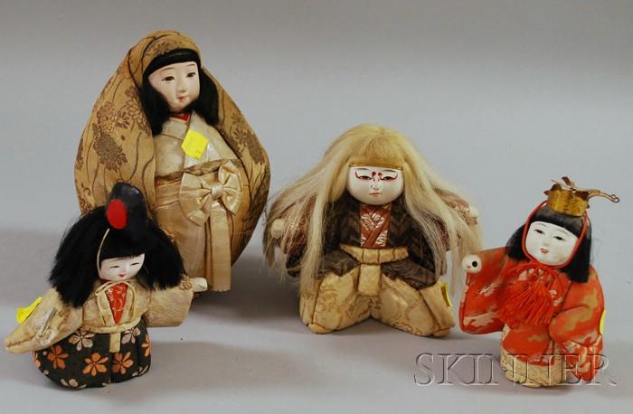 Four Japanese Female Dolls