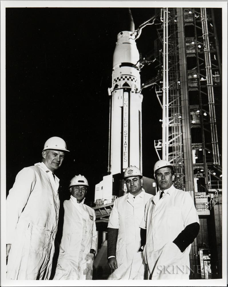 von Braun, Wernher, Six Photographs.