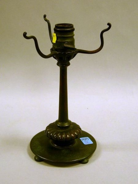 Tiffany-type Patinated Bronze Table Lamp Base.