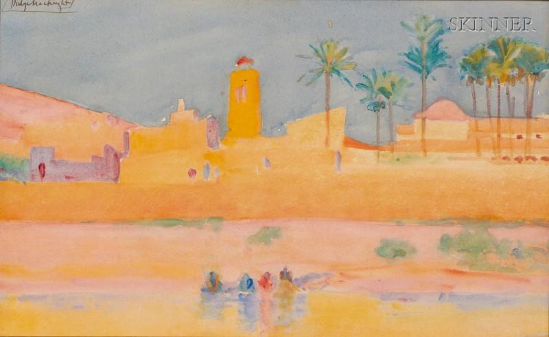 (William) Dodge MacKnight  (American, 1860-1950)      The Blaze of the Declining Sun