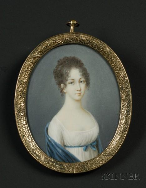 Oval Miniature Portrait of a Lady