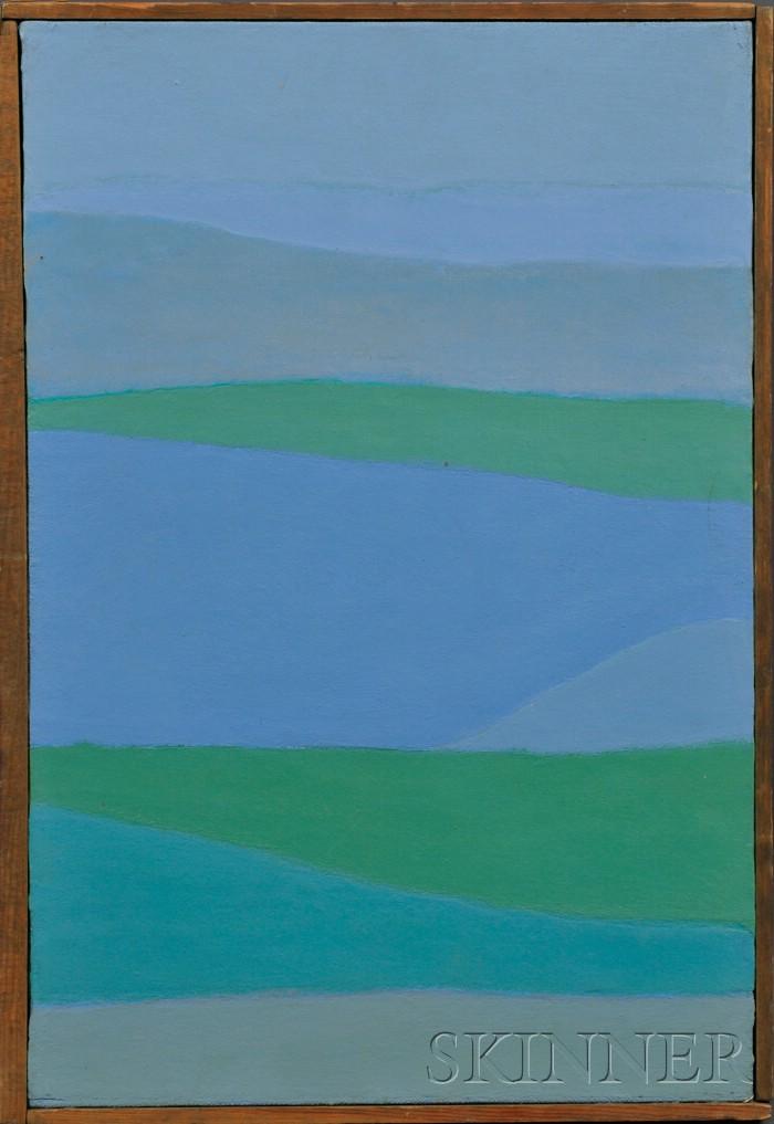 Reba Stewart  (American, 1930-1971)      San Juan Harbor.