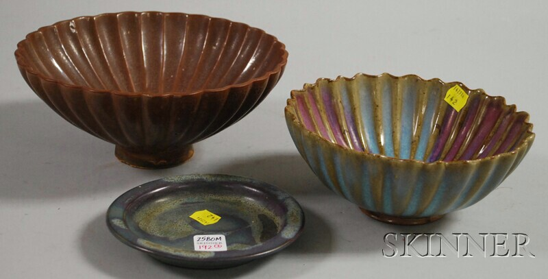 Two Chun-style Bowls and a Dish