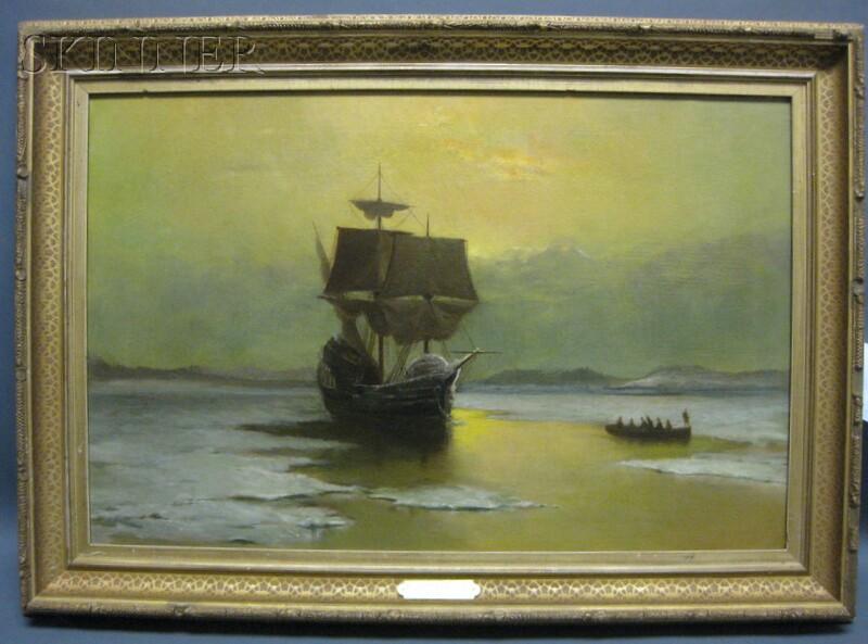 American School, 19th Century      The Barque Half Moon   in Hudson Bay
