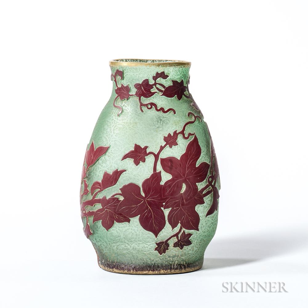 Early Daum Cameo Glass Vase