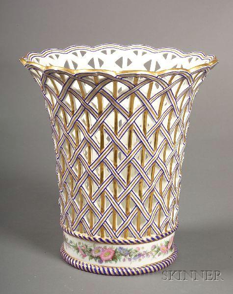Paris Porcelain Basket