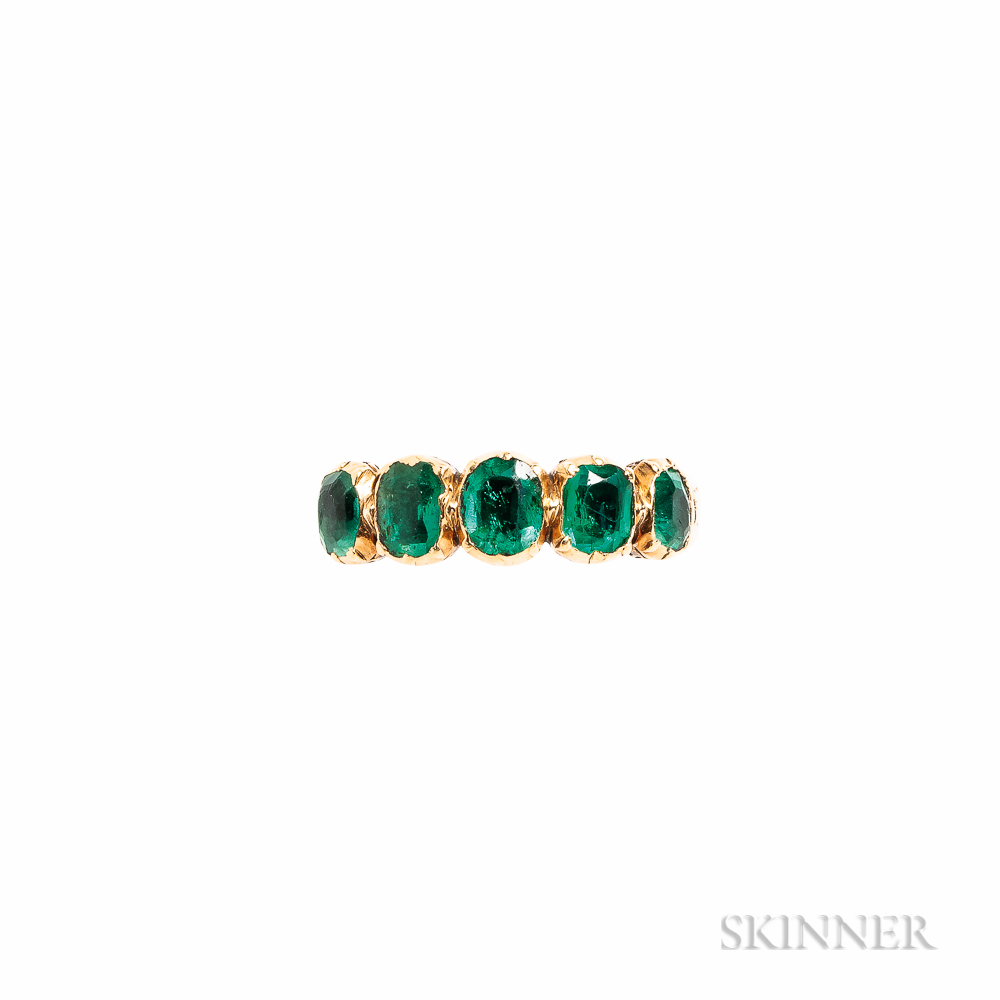 Early Victorian 18kt Gold and Emerald Ring