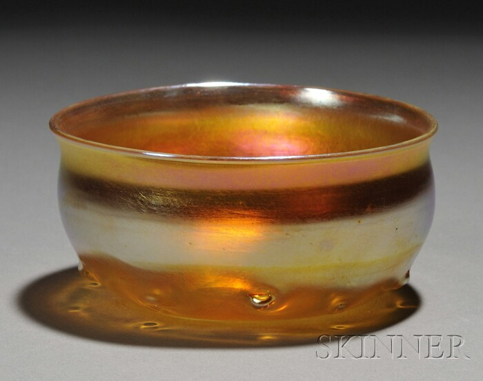 Tiffany Gold Favrile Bowl