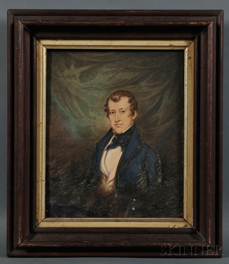 American School, 19th Century      Four Sheaff Family Portraits.