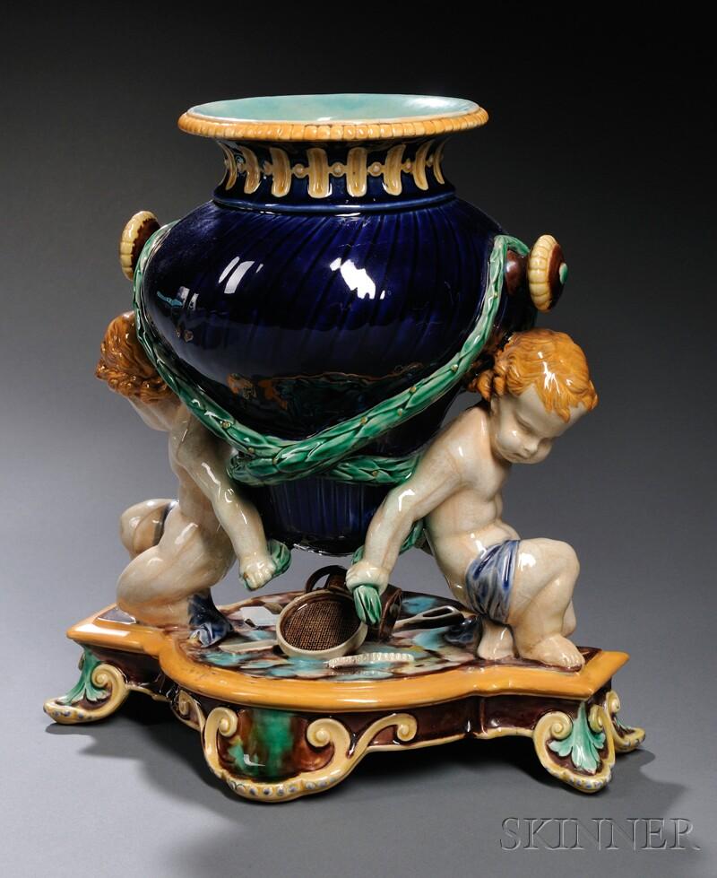 Wedgwood Majolica Figural Trentham Vase