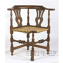 Turned and Carved Round-about Chair,