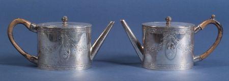 Two George III Silver Teapots
