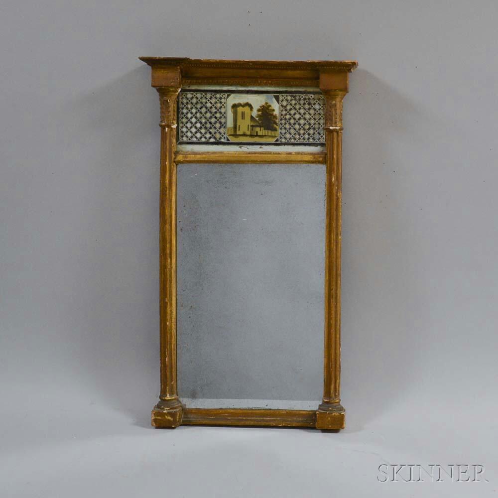 Federal Gilt Eglomise Mirror