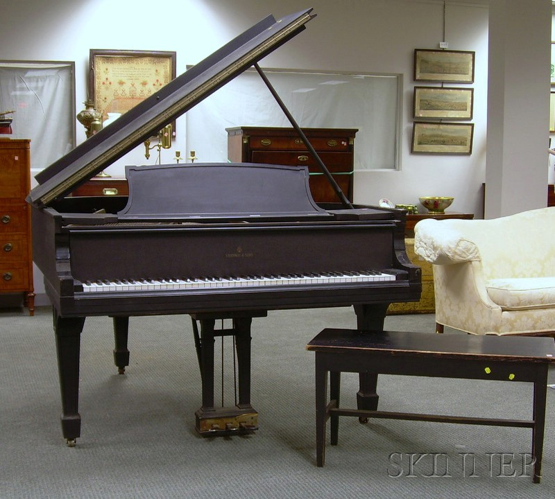 Steinway & Sons Black Lacquered Baby Grand Piano