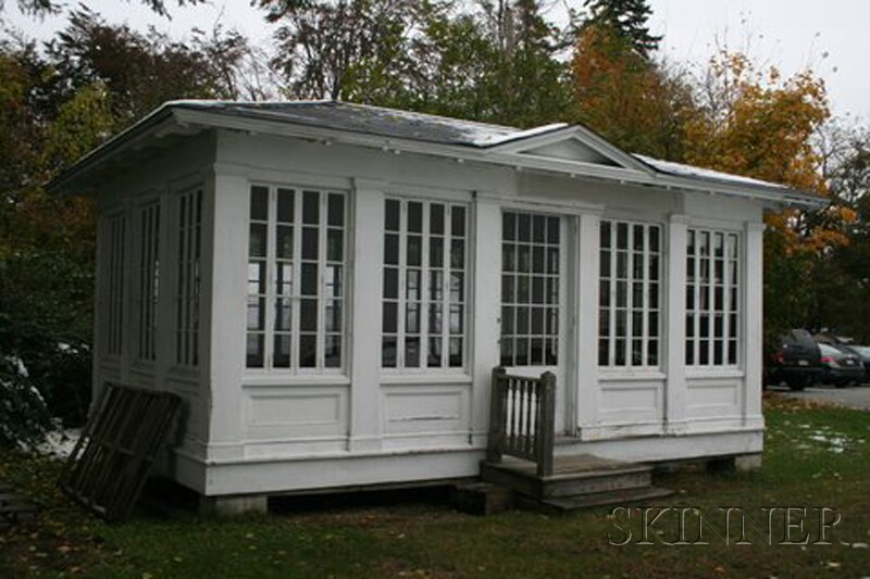 "White-Painted ""Summer House"" Building"