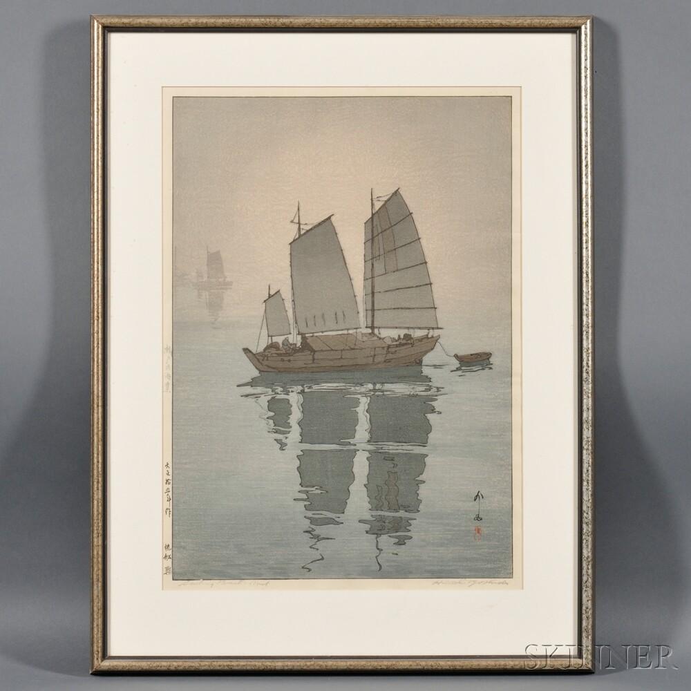Hiroshi Yoshida (1876-1950), Sailing Boats, Mist