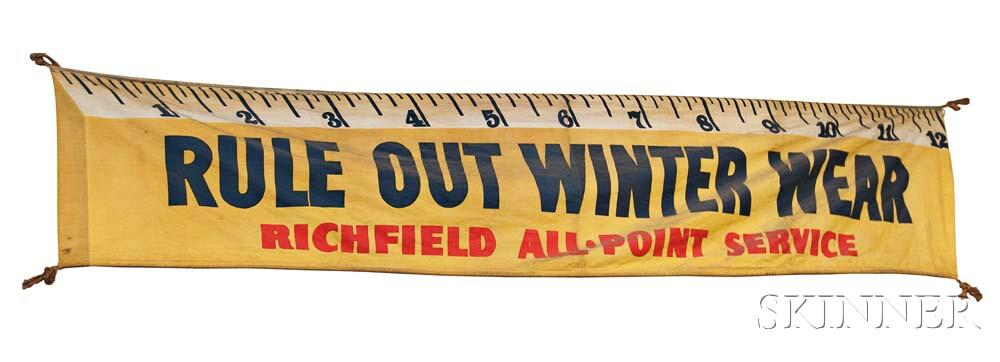 "Richfield Canvas Sign ""Rule Out Winter Wear,"""
