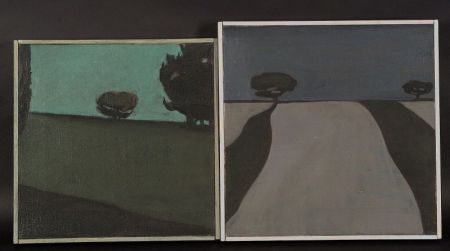 Jackie Buechner (American, 20th Century)  Lot of Two Expansive Landscape Views.