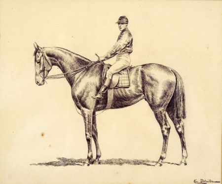 Charles (Jean Baptiste C.) Detaille (French, 19th Century)    Horse and Rider