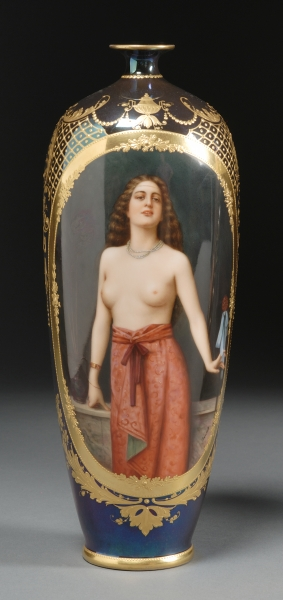 Royal Vienna Porcelain Portrait Vase