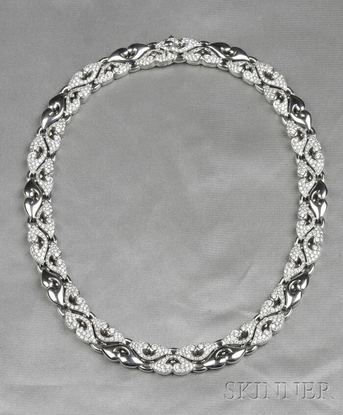 "Platinum and Diamond ""Nuvole"" Necklace, Bulgari"