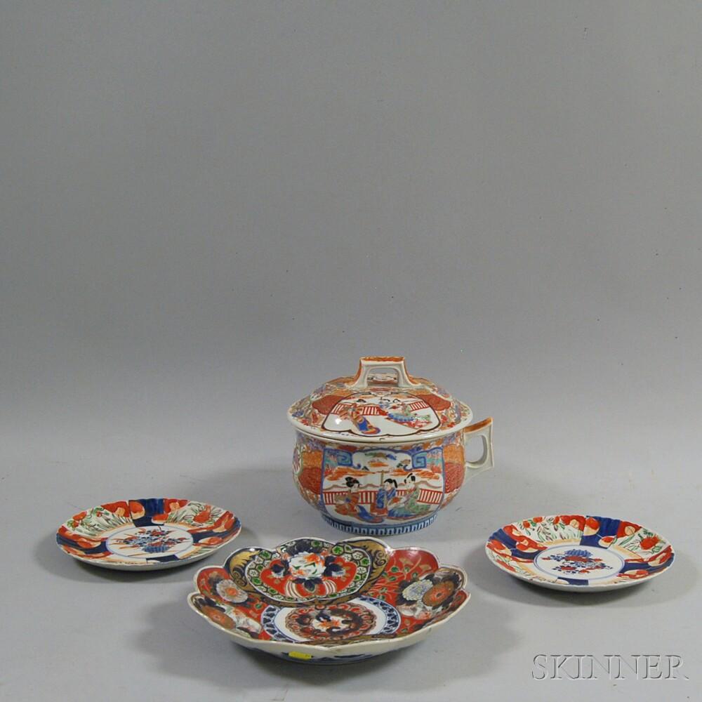 Four Japanese Imari Pieces