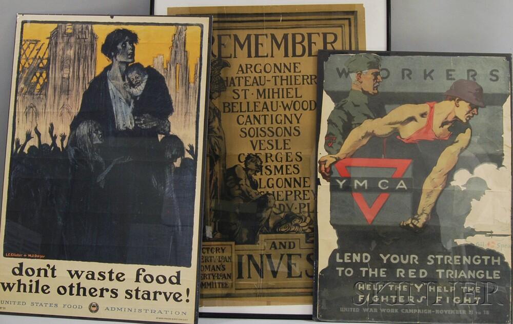 Three U.S. WWI Posters