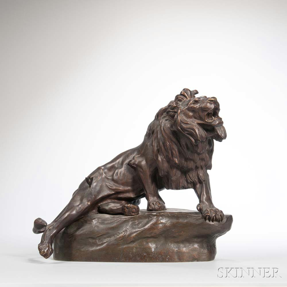 After Clovis Edmond Masson (French, 1838-1913)      Bronze Figure of a Lion